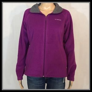 Columbia Omni Heat Purple Fleece Jacket